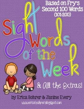 Sight Words of the Week & All the Extras: Fry's Second 100