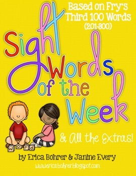 Sight Words of the Week & All the Extras: Fry's Third 100
