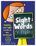 Sight Words on Display