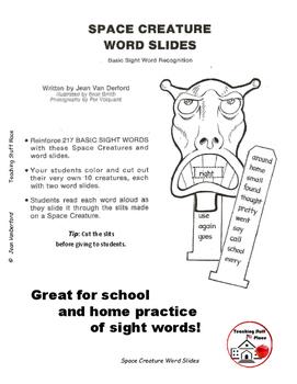 SIGHT WORDS SLIDES | ACTIVITY | COLOR | Space Creatures | K-1