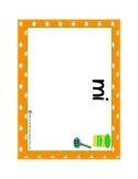 Spanish Words Fluency Practice-play dough stamp mats