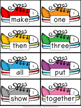 Sight Words {School Shoes}