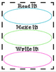 Sight Words templates