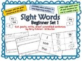 Sight Words Scrambled Sentences ~ Beginner Set (I, we, see, a, the)