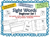 SIGHT WORDS Scrambled Sentences -- Beginner SET 1  (I, we, see, a, the)
