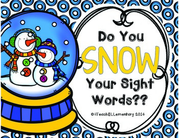 Do You SNOW Your Sight Words?? {PrePrimer and Primer Sight Word Game}