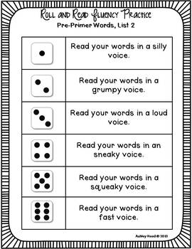 First Grade Dolch Words