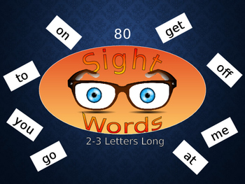 Sight Words Power Point Presentation Reading Spelling English ESL 80 words