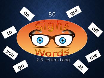 Sight Words Power Point Presentation Reading Spelling English ESL 80 words