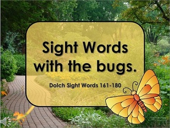 Sight Words with Bugs
