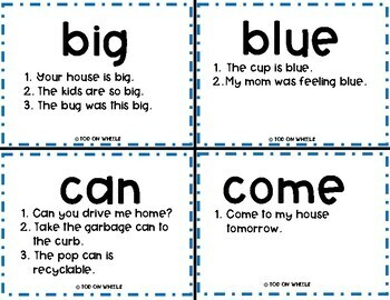 Sight Words with Multiple Meanings: Preprimer
