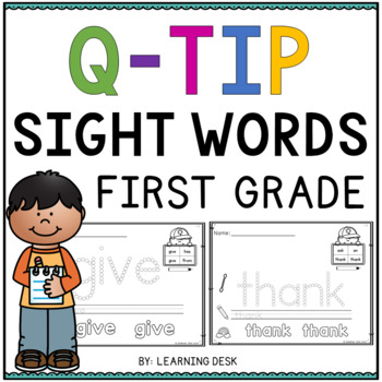 Sight Words First Grade Q Tip Worksheets