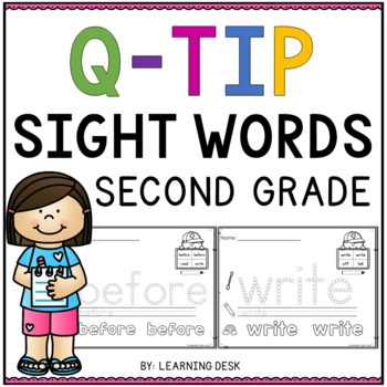 Sight Words Second Grade Q Tip Worksheets