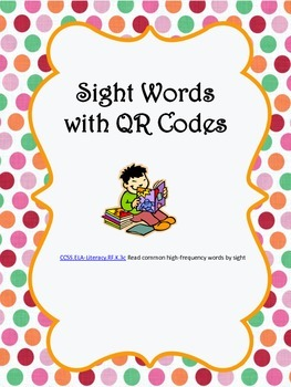 Sight Words with QR Codes
