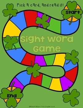 Sight Words with Shamrocks