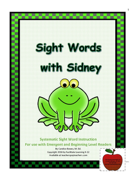 Sight Words with Sidney