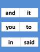 Sight Words with Traceable Option
