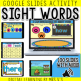 Sight Words (with audio) Digital Activity Part 5 (Google Slides )