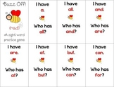 First Grade Tricky Sight Words/Buzz Off! Looping Game