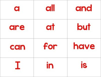 First Grade Tricky Sight Words/Buzz Words