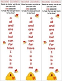 """First Grade Tricky Sight Words/Buzz Words """"Hive-Five"""" flue"""