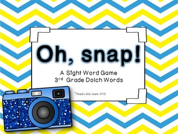 """Sight Words/Dolch Words """"Oh, Snap!"""" Game BUNDLE"""