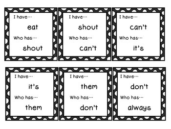 Sight Words/High Frequency Word Game