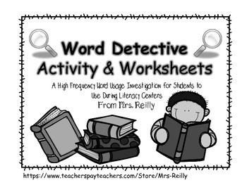 Word Detectives - High Frequency Word Search within Text {