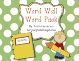 Sight Words/Word Wall Word Pack