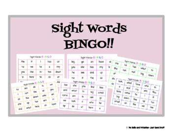Sight word BINGO- 44 Kindergarten words