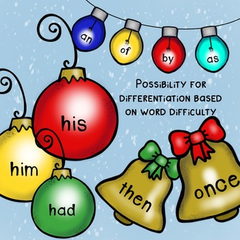 Sight word Christmas Tree: First Grade - Differentiation Included!