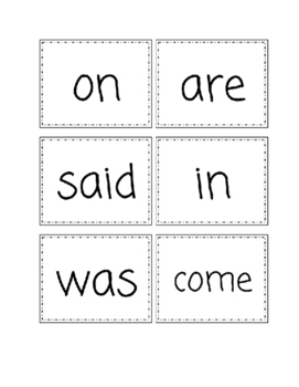 Sight word Flashcards