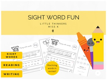 Sight Word Work - fun sight word practice, in context!
