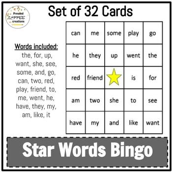 Sight word / High frequency words BINGO