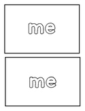 "Sight word ""Me"" Emergent Reader"