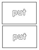"""Sight word """"Put"""" Emergent Reader"""