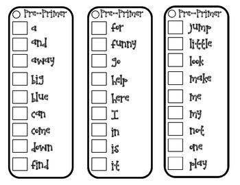 Sight word Sticker Booklets