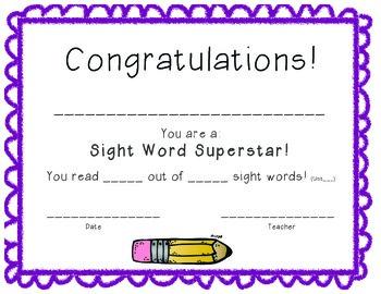 Sight word Superstar