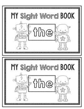 "Sight word ""THE"" reader book with multiple activities"