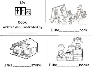 Sight word The Book