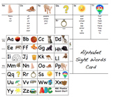 Editable Sight Word and Phonics Writing Support Cards