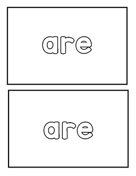 "Sight word ""are"" Emergent Reader"