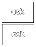 """Sight word """"ask"""" Emergent Reader"""