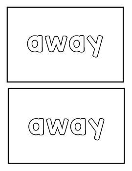 "Sight word ""away"" Emergent Reader"