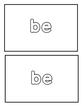 """Sight word """"be"""" Emergent Reader"""