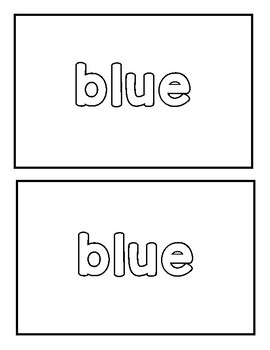 "Sight word ""blue"" Emergent Reader"