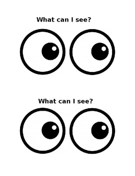 Sight word book: I can see a...