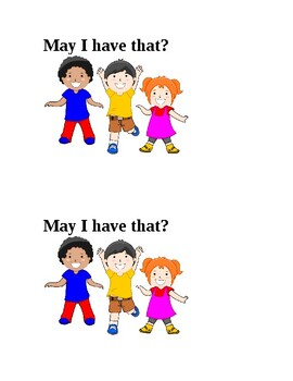 Sight word book: May & Have