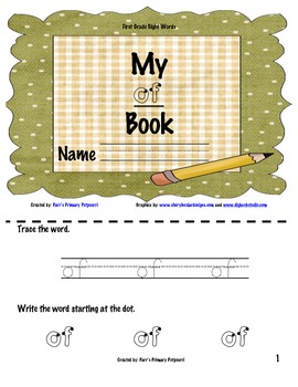 Sight word book - of