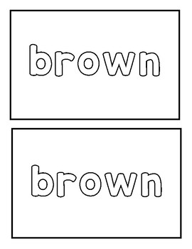 "Sight word ""brown"" Emergent Reader"